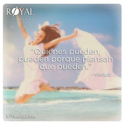 """#TravelQuotes: """"Quienes pueden, pueden porque piensan que pueden."""" #Virgilio"""