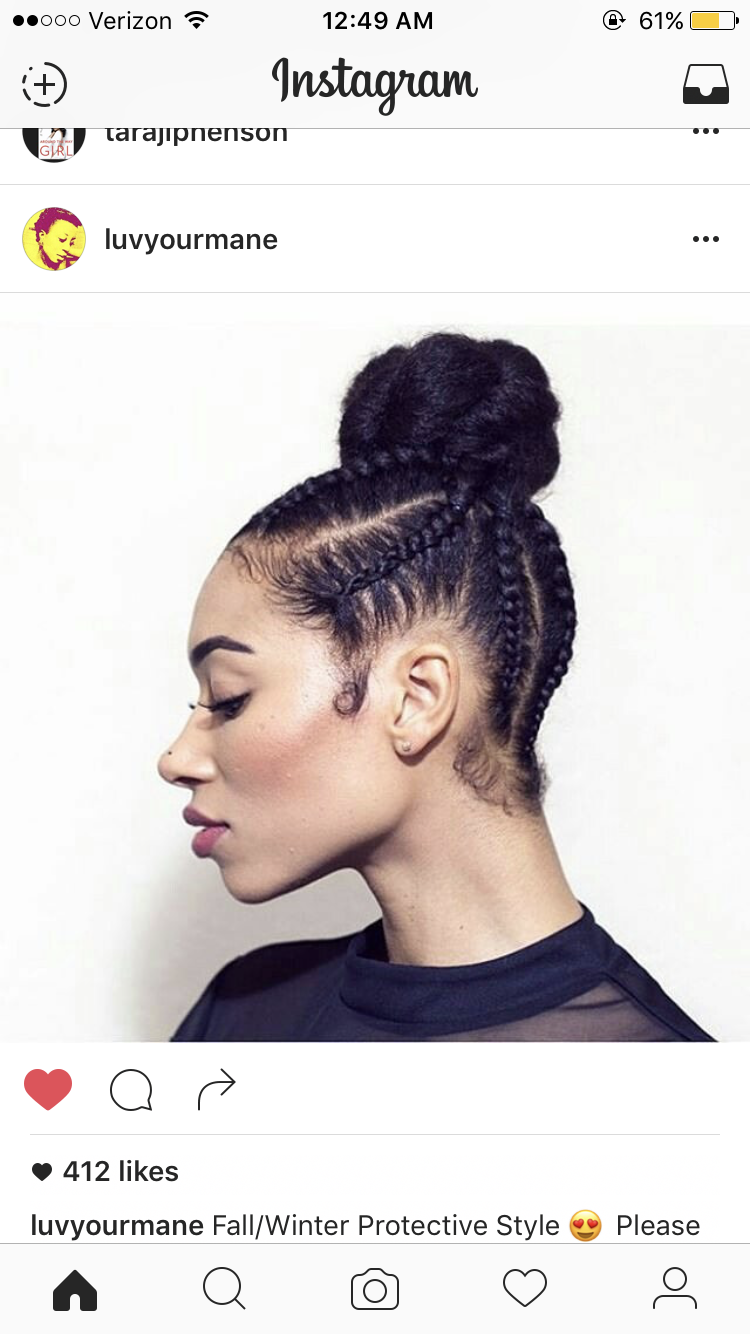 Try Hairstyles Amazing Protective Style I Might Try   On My Hair Journey  Pinterest