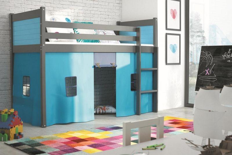 Etagenbett Dreier : Hochbett mit spielzelt blaue kinderbetten bett und