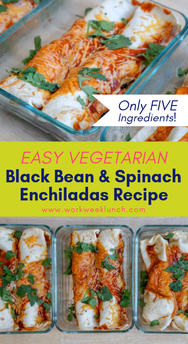 This Easy Enchilada Recipe Takes Only A Few Ingredients It S A Quick And Easy Vege Vegetarian Meal Prep Easy Enchilada Recipe Vegetarian Recipes For Beginners