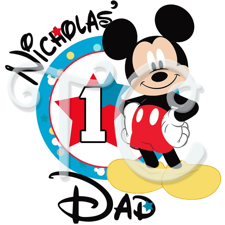 Mickey Mouse 1st birthday Parents personalized t shirt