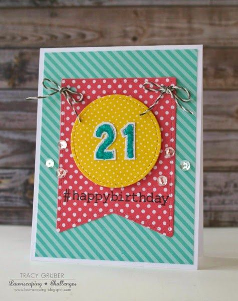 Stitched Party Banners Little Numbers Lawnscaping Challenge
