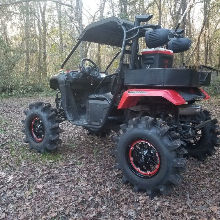 My 2016 Honda Pioneer 500 With 6 Portal Hubs From Utvsolutions Com 35 Superior Tracrion Mud Tires 16x7 Msa Wheels 1 5 Honda Pioneer 500 Honda Grom Honda