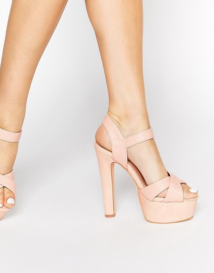 dd44075fb03 Discover ideas about Sock Shoes. April 2019. Enlarge Miss KG Felicity Nude  Platform Heeled Sandals