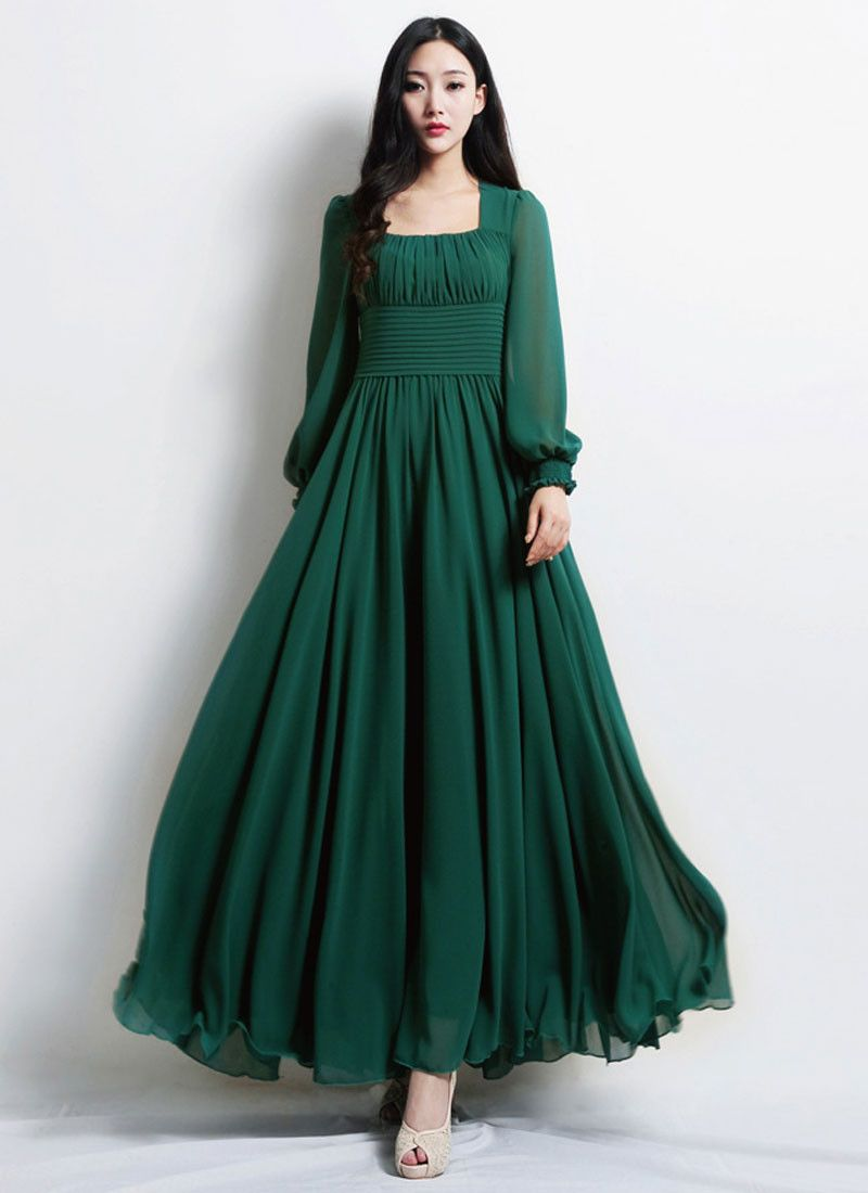 Empire Waist Emerald Green Maxi Dress With Square Neck Rm444 Maxi Dress Green Maxi Dress Dresses [ 1100 x 800 Pixel ]