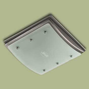 Shower Fan Light Hunter 90064 Ellipse Bathroom Exhaust And Flush Mount