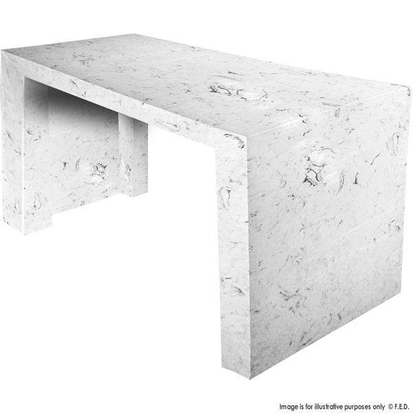 Superb FEDeral Quartz Marble Engineered U0027Solid Stoneu0027 Bar Tables   Volakas White