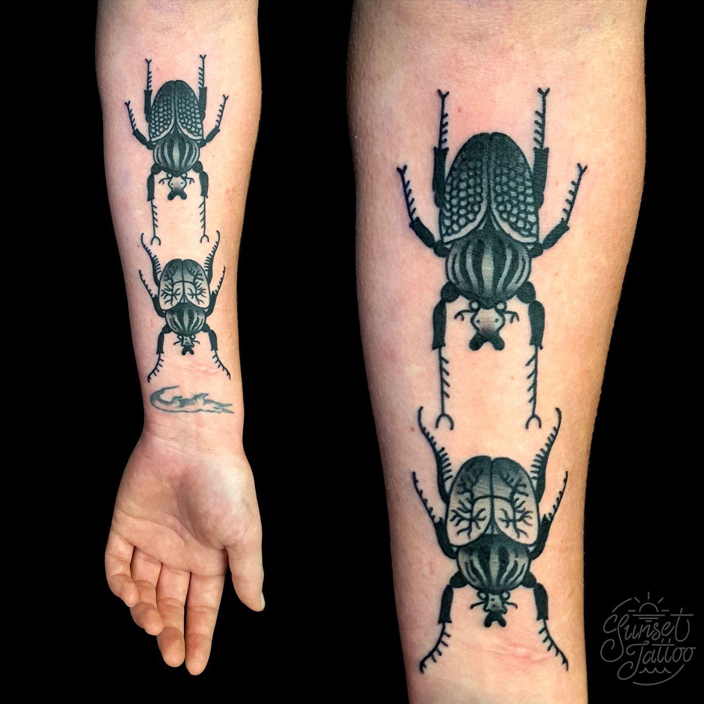 Beetle tattoo by tristan marler sunsettattoonz tattoos