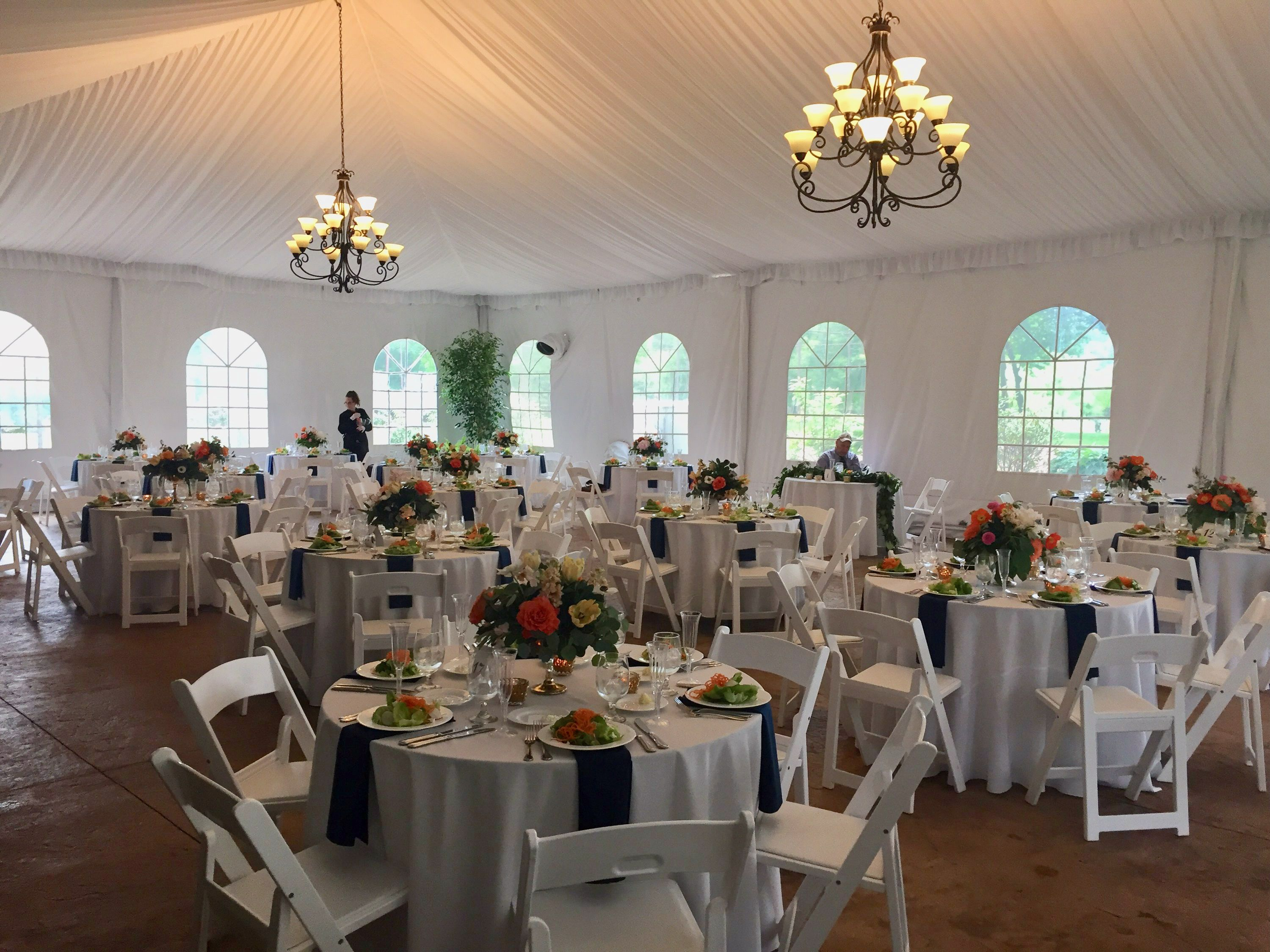 Party Tent By The Carriage House Party Tent Table Decorations Carriage House