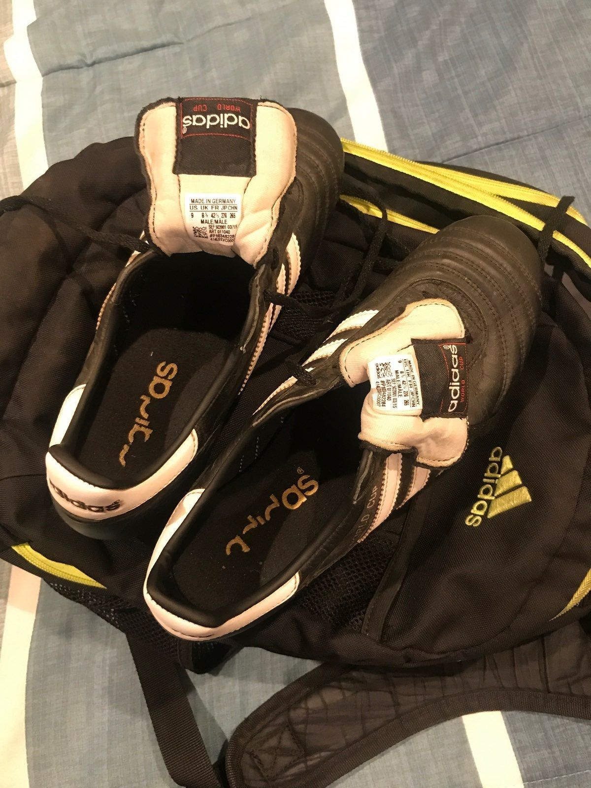 World Cup Adidas Soccer Cleats. Metal