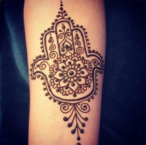 Hand of fatima by divine henna henna arm pinterest for Hand of fatima tattoo