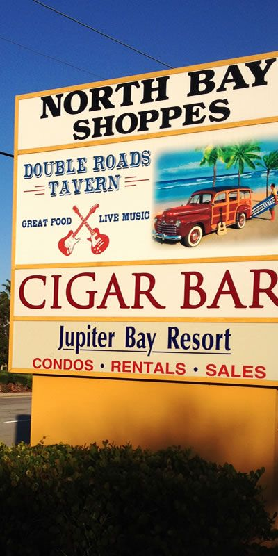 North Bay Shoppes in wonderful Jupiter, FL. Home to the Jupiter Bay Resort, Cigar Bar and Double Roads Tavern.
