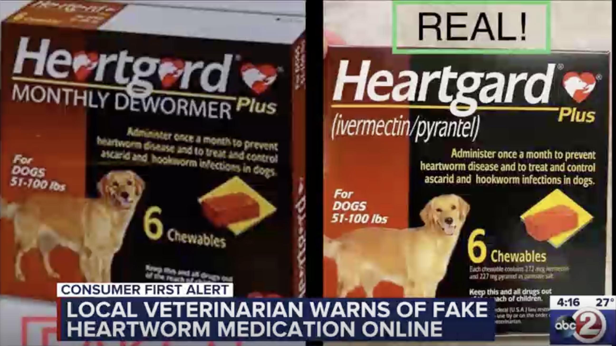 Warning Fake Heartworm Medication Sold Online In 2020 Heartworm Medication Heartworm Veterinarian