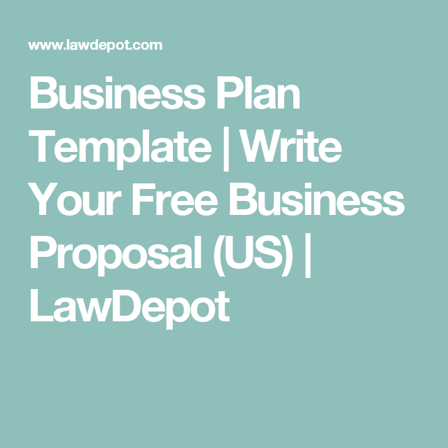 Business Plan Template Write Your Free Business Proposal US - Easy business plan template