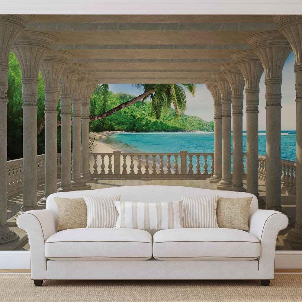 wall mural photo wallpaper xxl beach tropical 1360ws in. Black Bedroom Furniture Sets. Home Design Ideas
