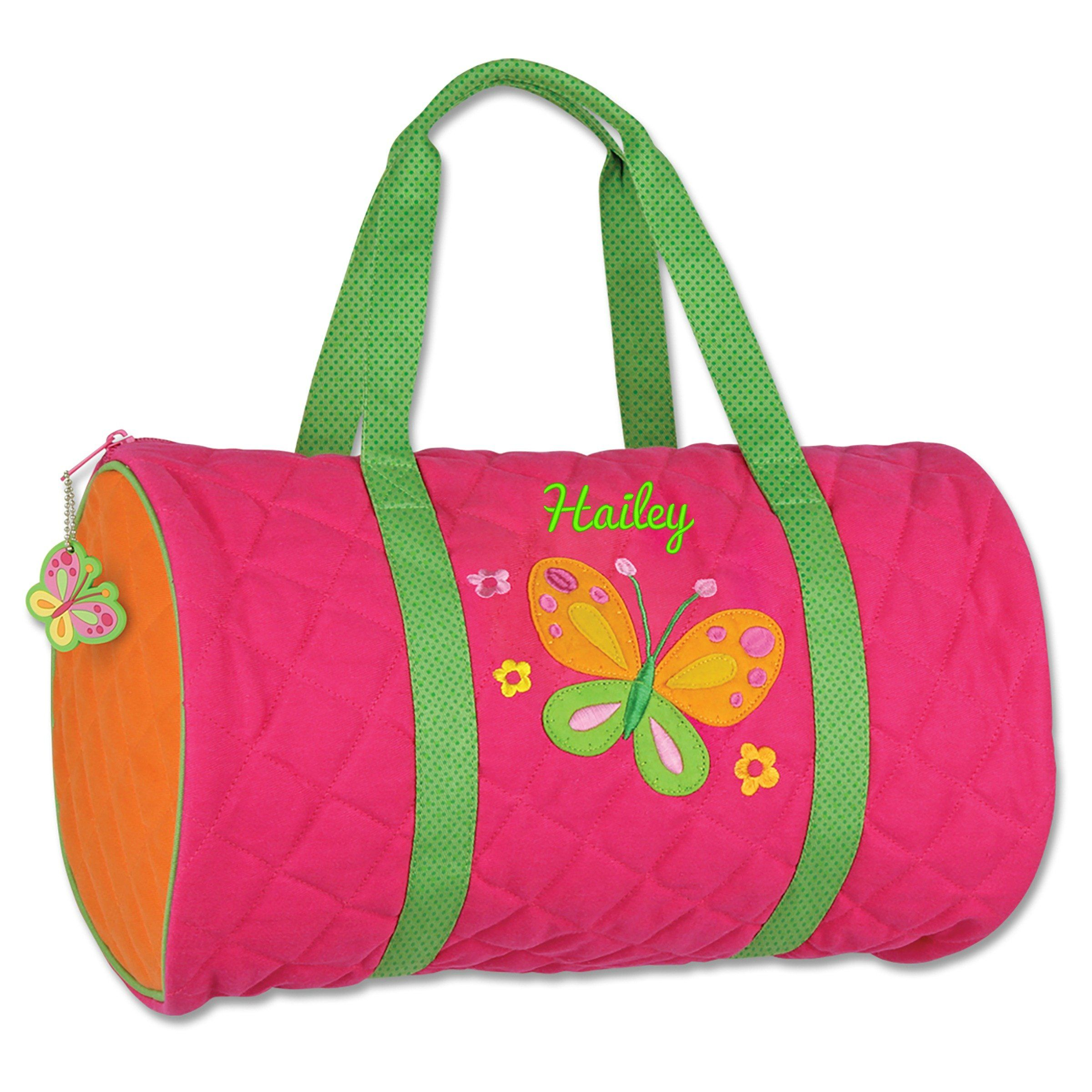 personalized kids quilted duffle