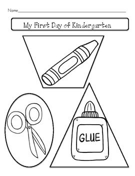 first day of kindergarten worksheets and activities  edarts and  first day of kindergarten worksheets and activities