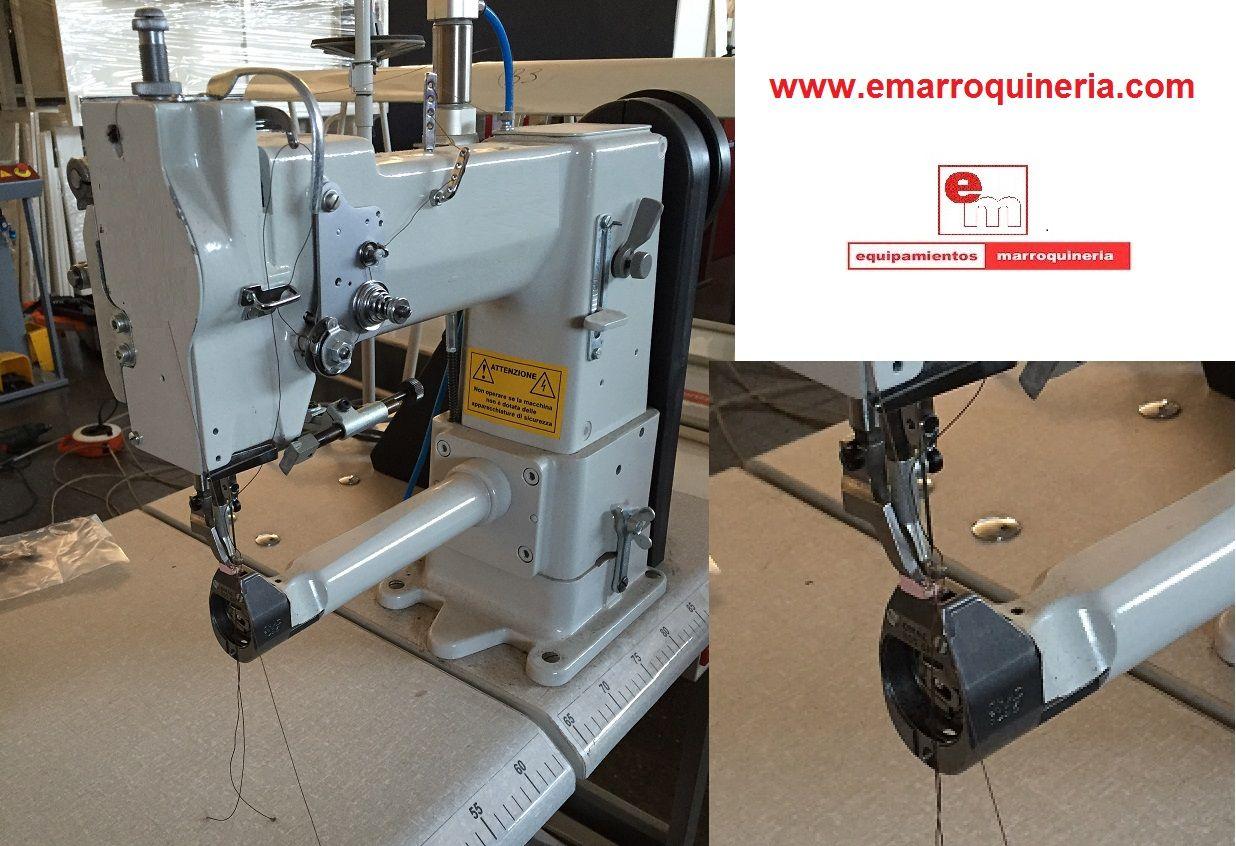 Maquina Fabricacion Bolsos Y Marroquineria Maquina De Coser Triple Arrastre 1 Aguja Con Dientes Elevados Y Bra Vintage Sewing Machines Old Tools Sewing Machine