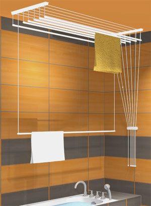 Etendoir pour salle de bains etendoirs airavie s choir linge etendoir en etendoir plafond - Etendoir salle de bain ...
