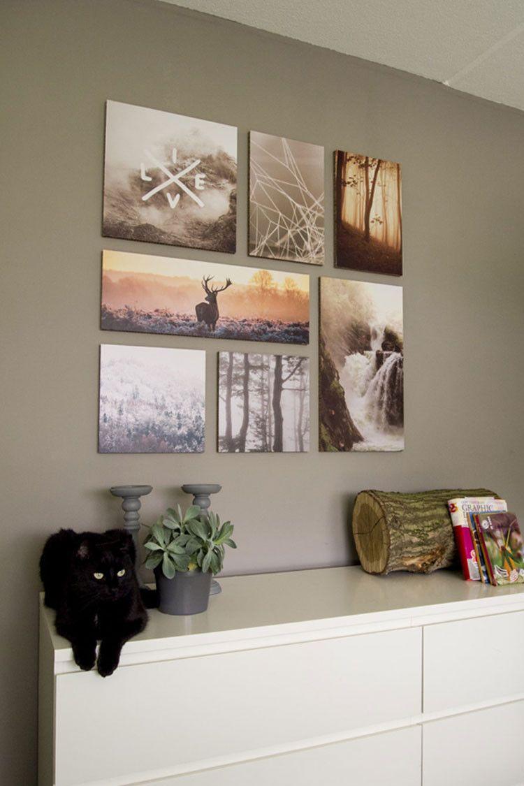 Beste Foto's aan de muur   Fotogalerij muren, Fotocollage muren, Muur YS-92