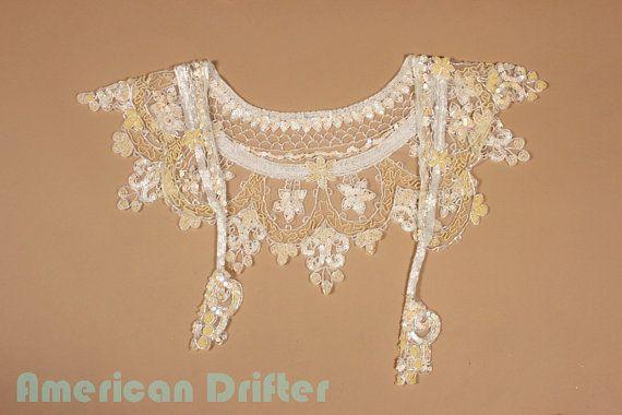 Vintage White Sequin Bolero Boho Gypsy by AmericanDrifter on Etsy