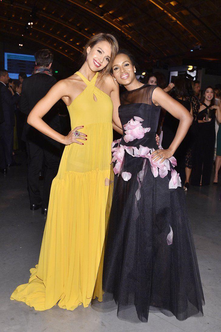 Pin for Later: Jessica Alba hatte geladen und die Stars kamen in Scharen Jessica Alba und Kerry Washington