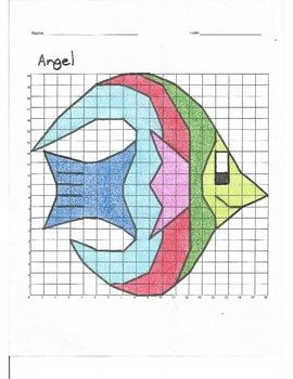 Quadrant 1 Coordinate Graph Mystery Picture, Angel Fish   TPT