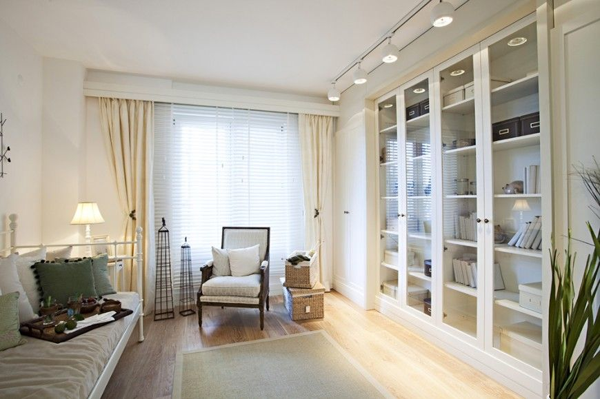20 Home Library Design Ideas for 2018 | White wood, Glass doors and ...