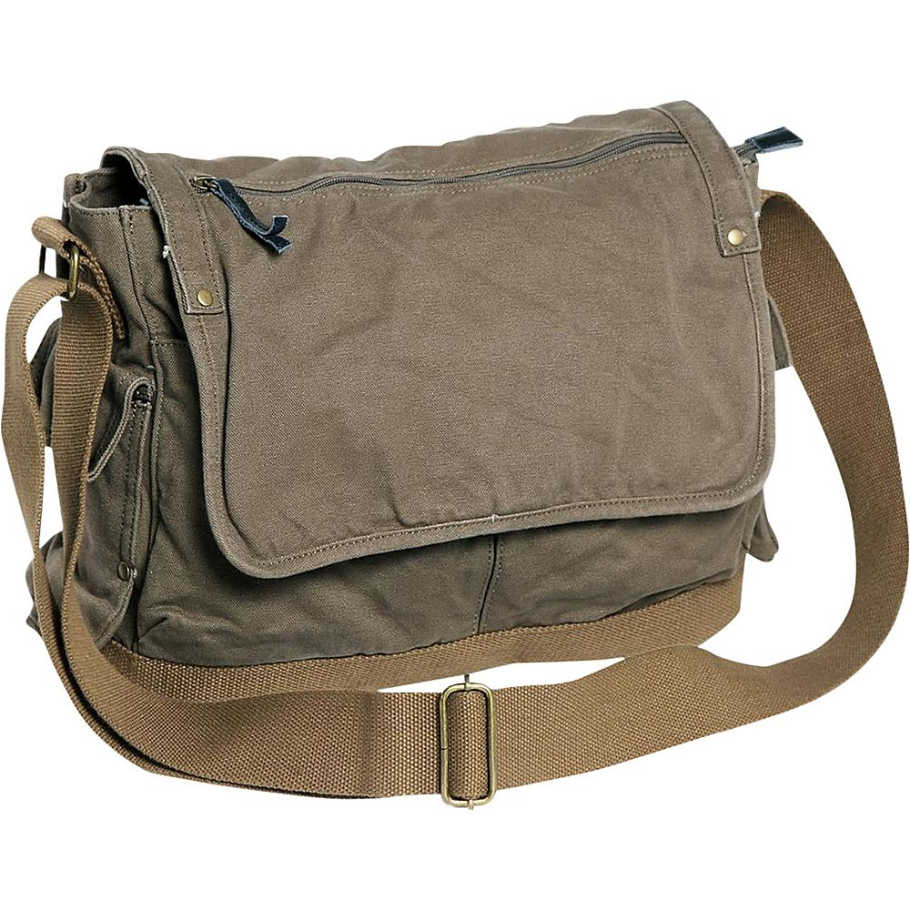 Vagarant Traveler Casual Style Canvas Laptop Messenger Bag