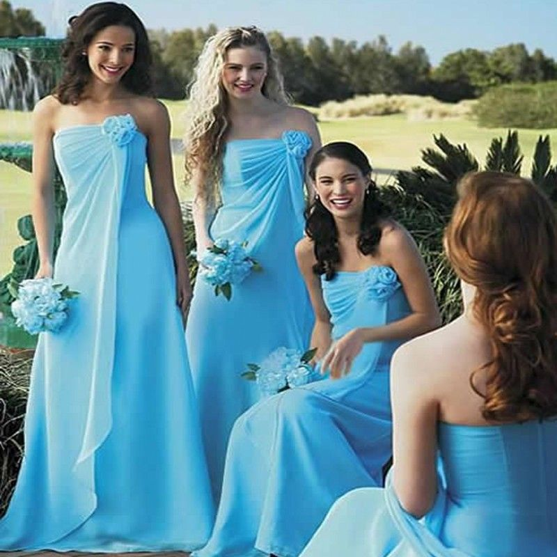 Cheap Gown Evening Dress Buy Quality Choice Directly From China Dresses Less Suppliers Winter Wedding BridesmaidsBlue