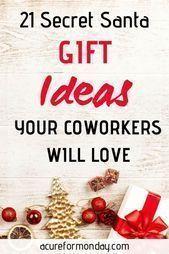 21 Best Secret Santa Gift Ideas For Coworkers (Under $25) - Creative Christmas (... - - #Christmas #coworkers #Creative #Gift #Ideas #santa #Secret #secretsantaideas 21 Best Secret Santa Gift Ideas For Coworkers (Under $25) - Creative Christmas (... - - #Christmas #coworkers #Creative #Gift #Ideas #santa #Secret