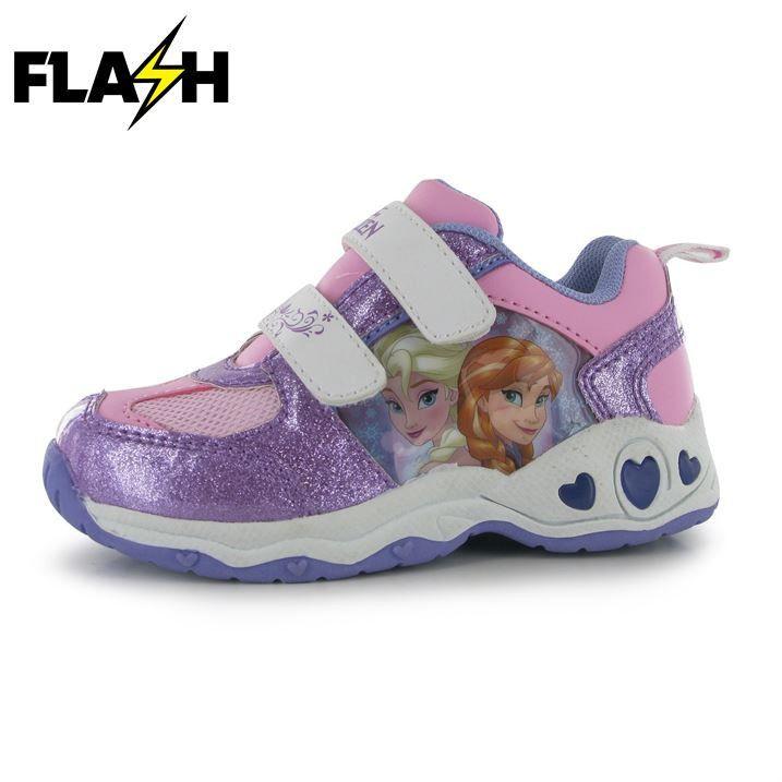 Disney Frozen Girls Light Up Sneakers Pink