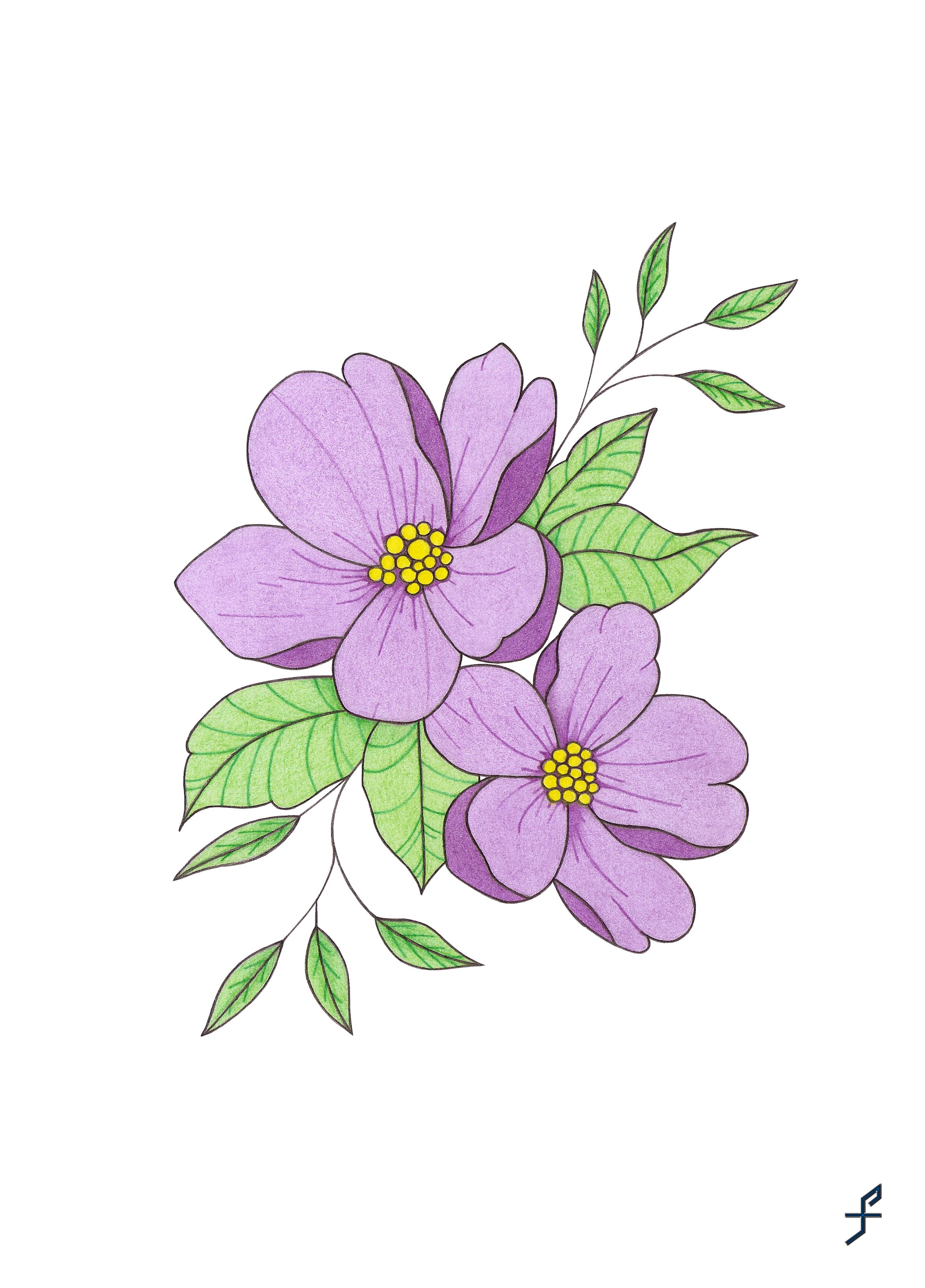Flor violeta png