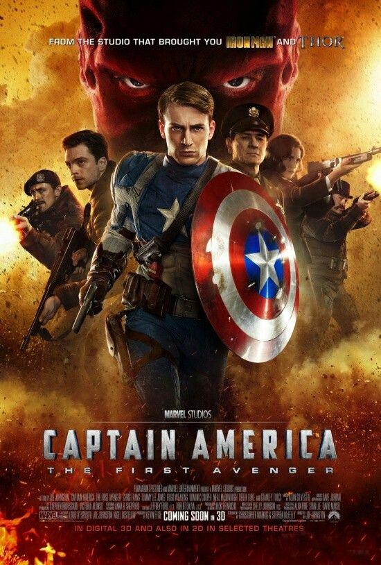 Captain America The First Avenger Movie Poster Movieposter Scifi Moviereview Movietwit Movieposters Advent Capitao America Vingadores Filme Os Vingadores
