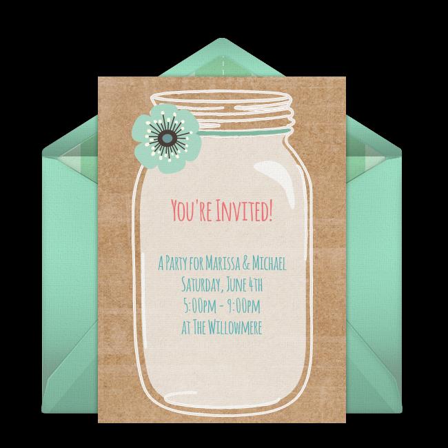 Free Rustic Mason Jar Invitations