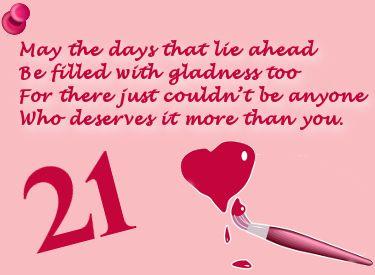 Jaar verjaardagsgedicht 21 VERJAARDAGSGEDICHTEN
