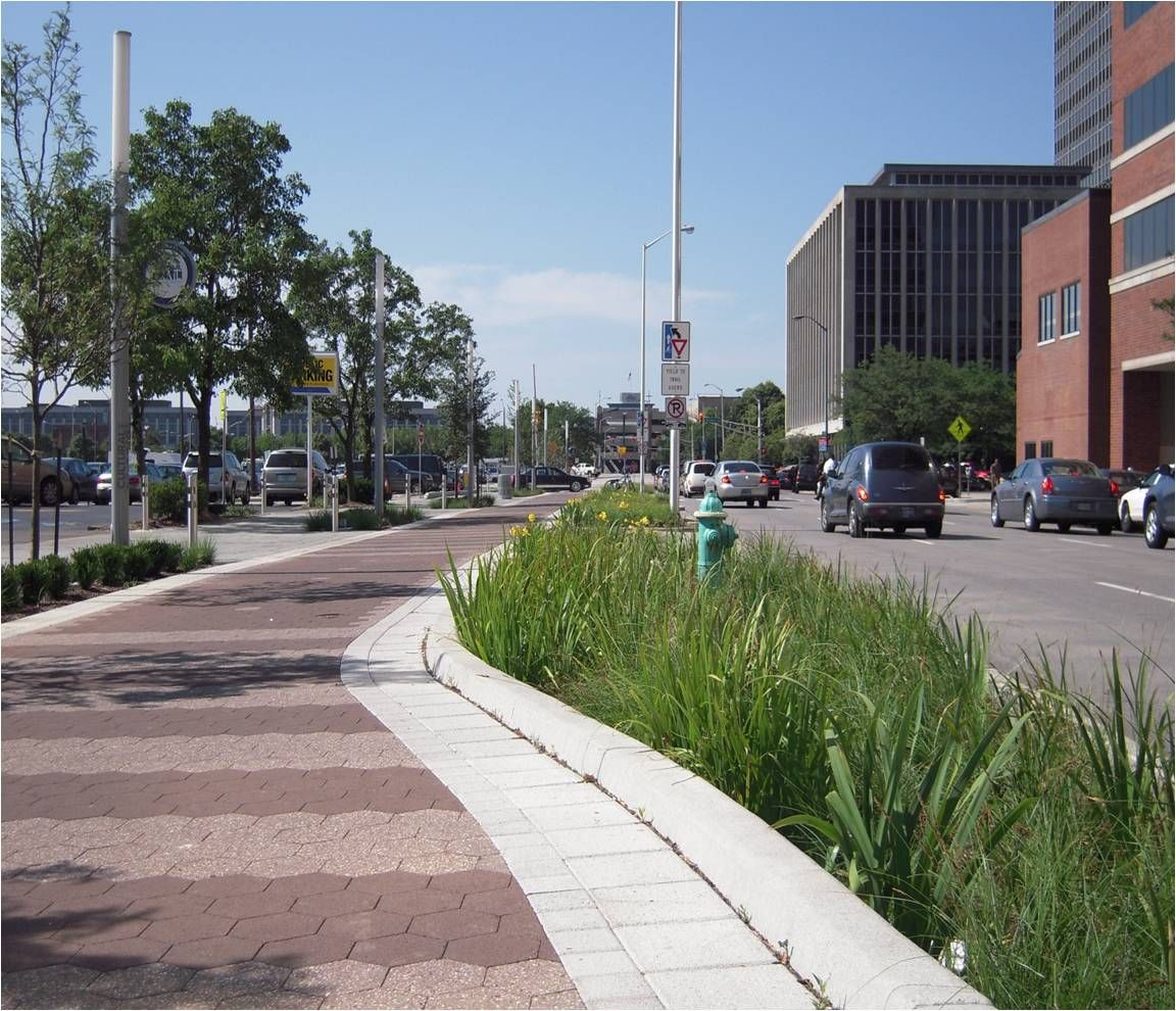 Indianapolis Cultural Trail Stormwater Planter