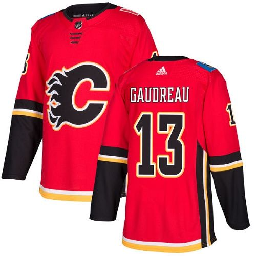 20a553117be Adidas Calgary Flames  13 Youth Johnny Gaudreau Authentic Red Home NHL  Jersey