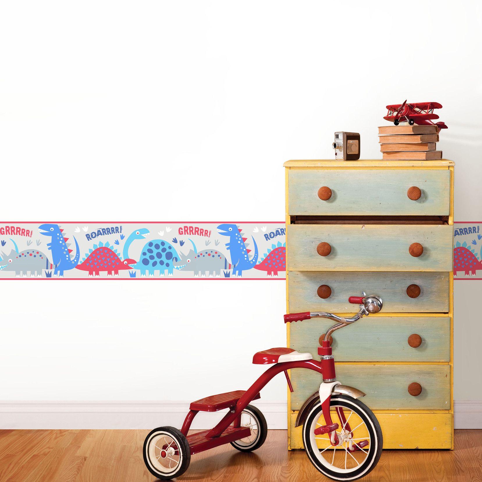 Fun4walls Dino Wall Mural Self Adhesive Wallpaper Wall Murals