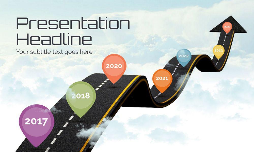 road in sky creative milestones and timeline presentation template for prezi templates