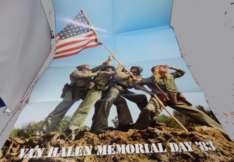 1983 Van Halen Memorial Day Concert Fold Out Poster 23 X Etsy Van Halen Memorial Day Memories
