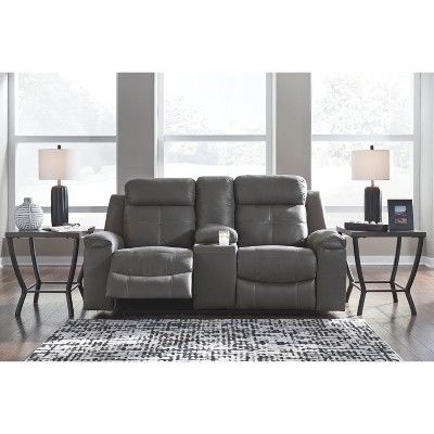 Astounding Jesolo Double Reclining Loveseat With Console Gray Heather Bralicious Painted Fabric Chair Ideas Braliciousco