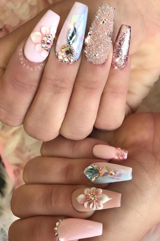 50 Gorgeous Nail Art Trends And Ideas Riyathai87 Acrylicnailart Gorgeous Nails Nail Designs Bling Nails