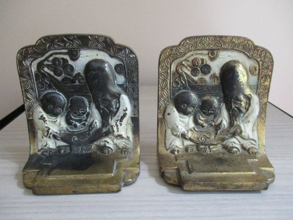 Items Similar To The Tutor Bookends By Pompeian Bronze   Circa 1929 On Etsy
