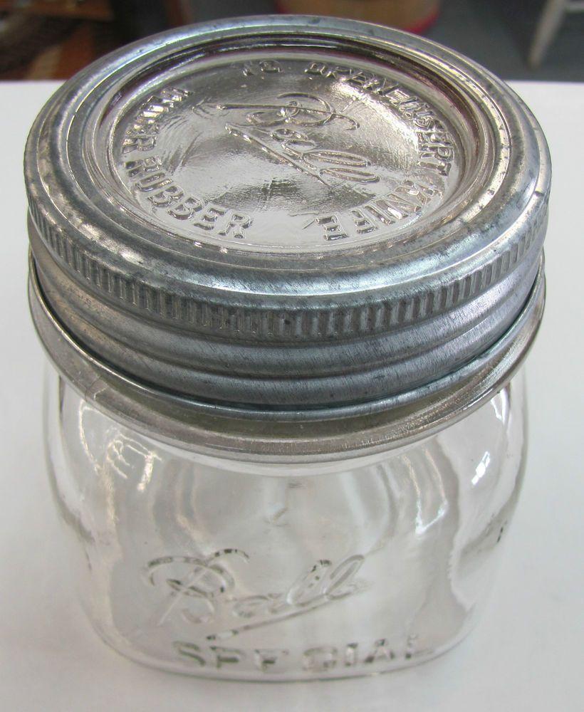vintage ball pint special square pint wide mouth mason jar insert knife lid band mason jars. Black Bedroom Furniture Sets. Home Design Ideas