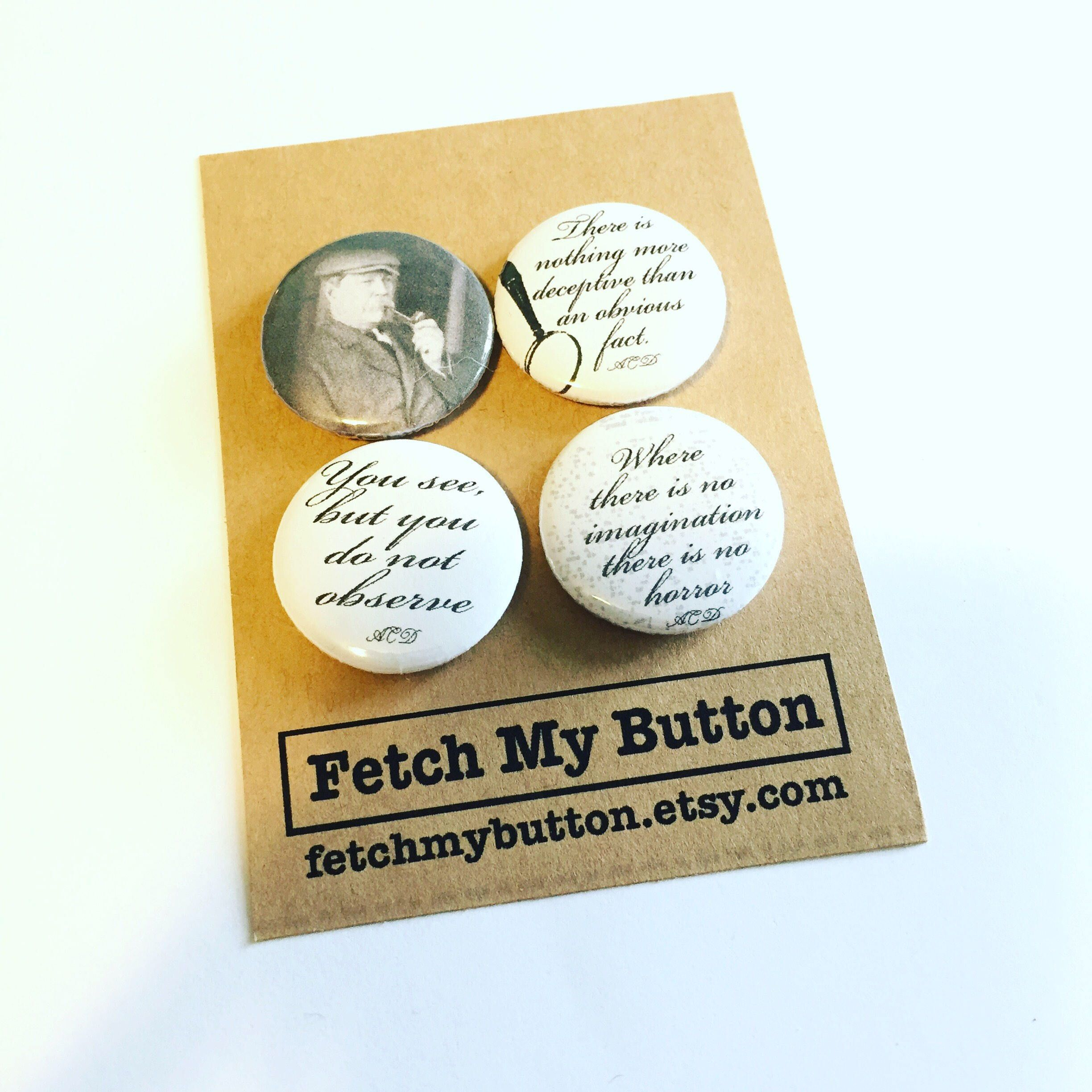 Set of 4 Funny Election Buttons//Pins 2.25 inches