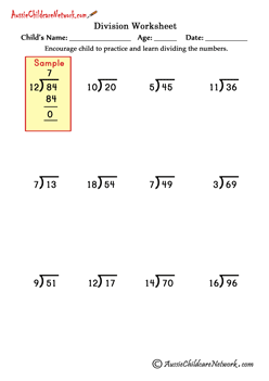 division worksheets without remainders | math | Pinterest ...