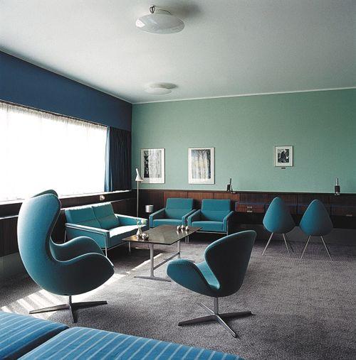 Arne jacobsen suite 606 im royal hotel in kopenhagen egg for Designhotel helgoland