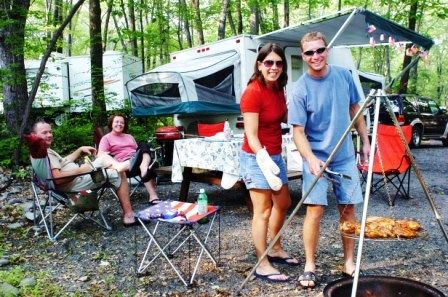 Family Cookout At Mountain Vista Campground