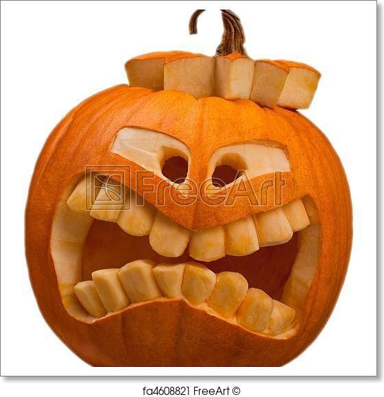 free art print of halloween pumpkin bastelarbeiten. Black Bedroom Furniture Sets. Home Design Ideas